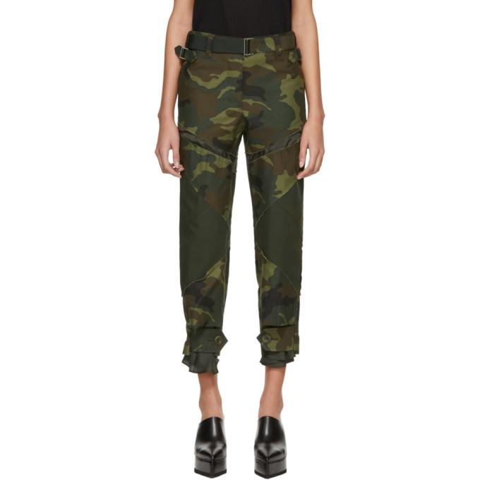 Sacai Khaki Camouflage Trousers