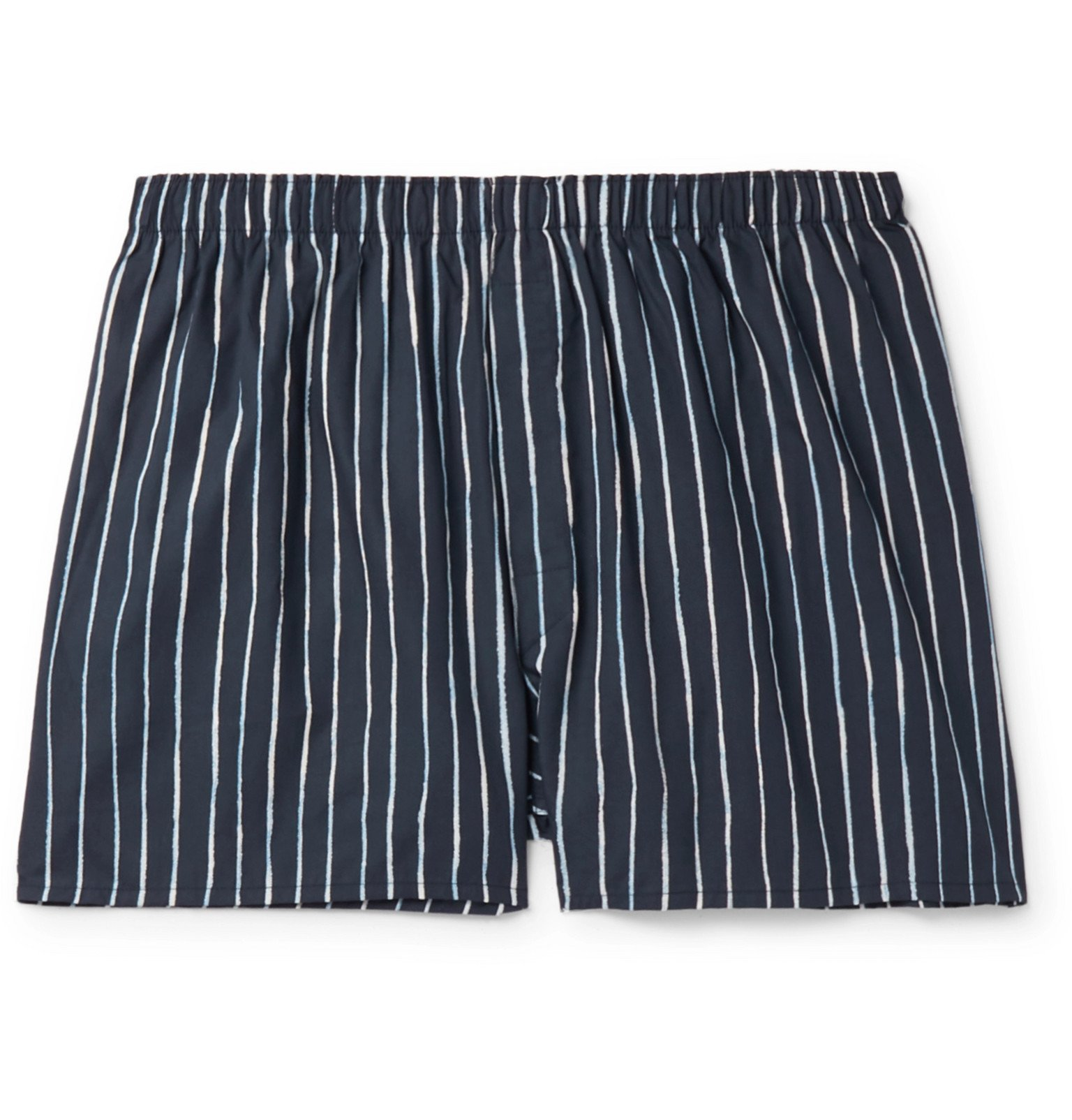 Photo: Sunspel - Striped Cotton Boxer Shorts - Blue