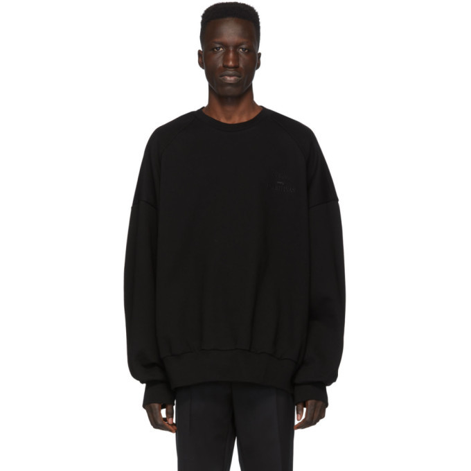 Photo: Juun.J Black Logo Sweatshirt