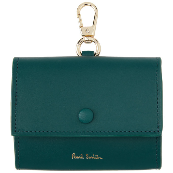 Photo: Paul Smith Blue Leather Clip-On Coin Pouch Keychain