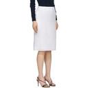 Nina Ricci White Straight Mid-Length Skirt