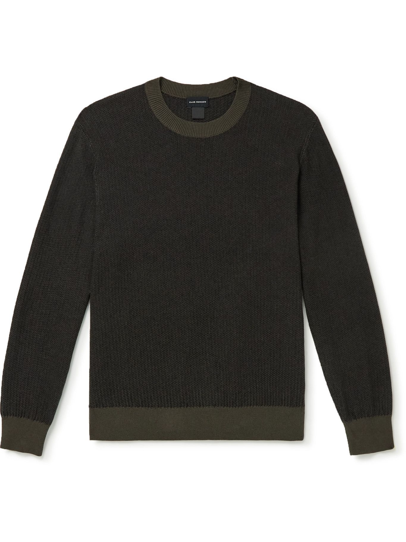 Photo: Club Monaco - Cotton and Wool-Blend Sweater - Green