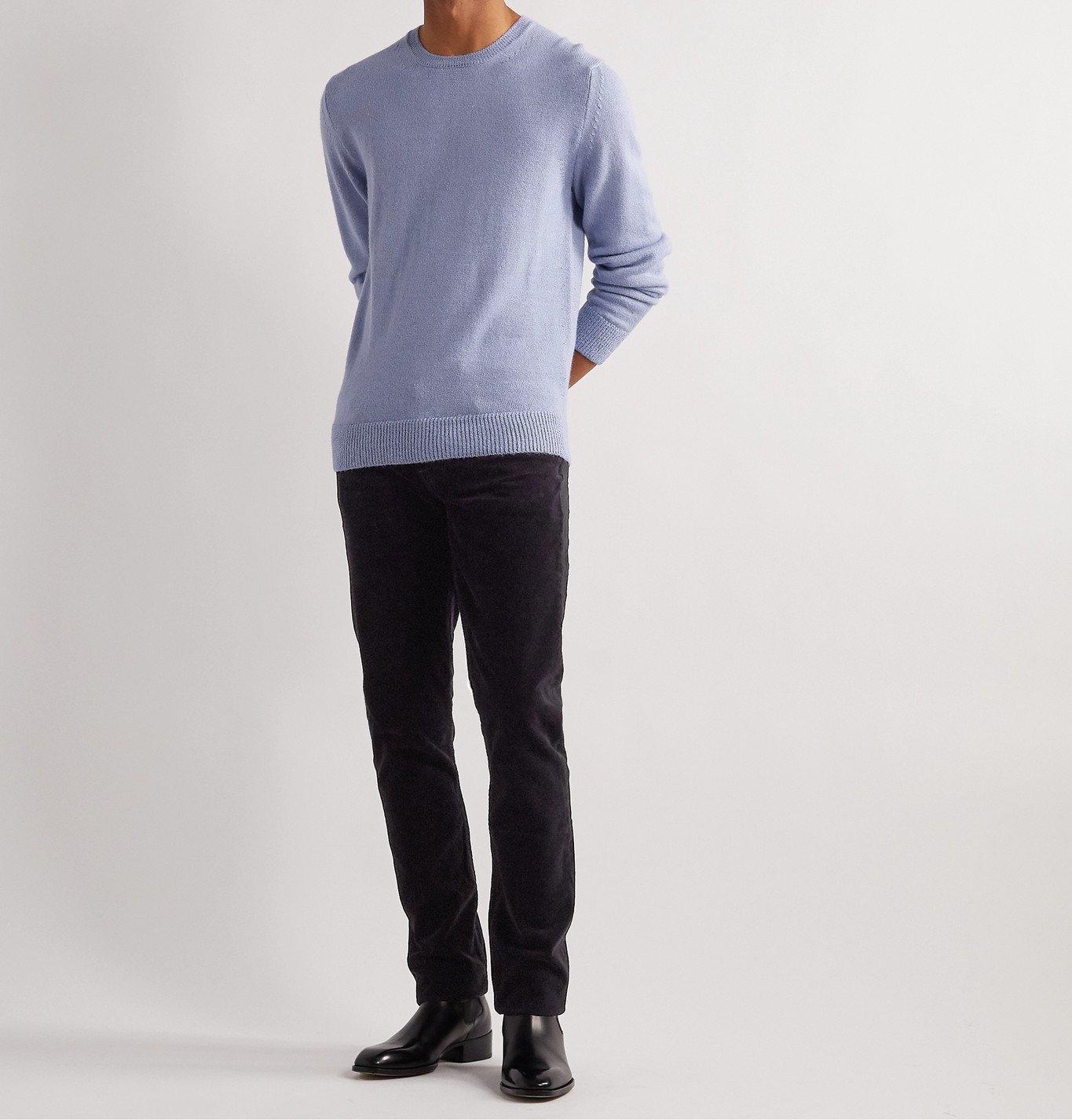 Photo: TOM FORD - Slim-Fit Alpaca and Silk-Blend Sweater - Purple