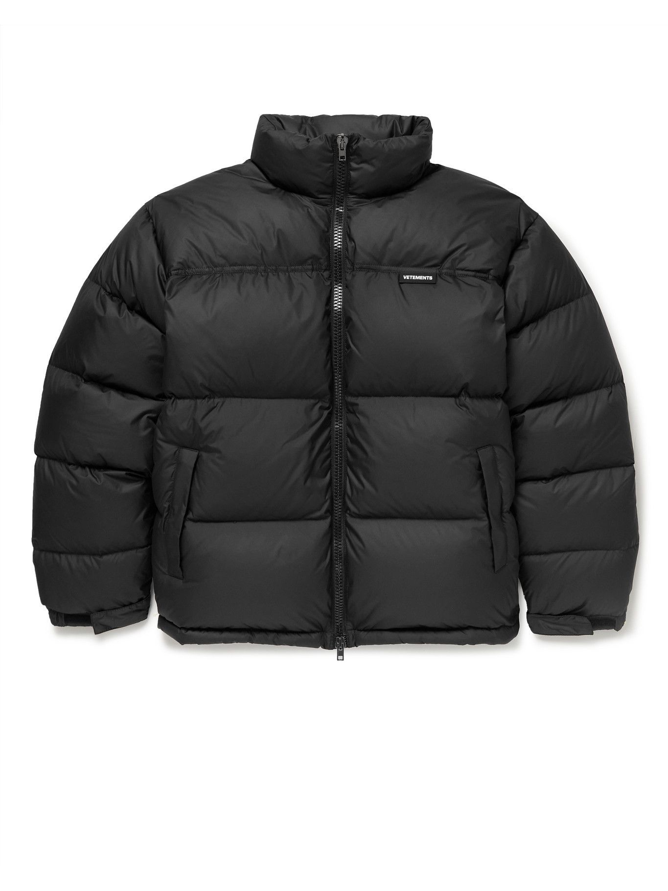 Photo: Vetements - Logo-Appliquéd Quilted Shell Down Puffer Jacket - Black