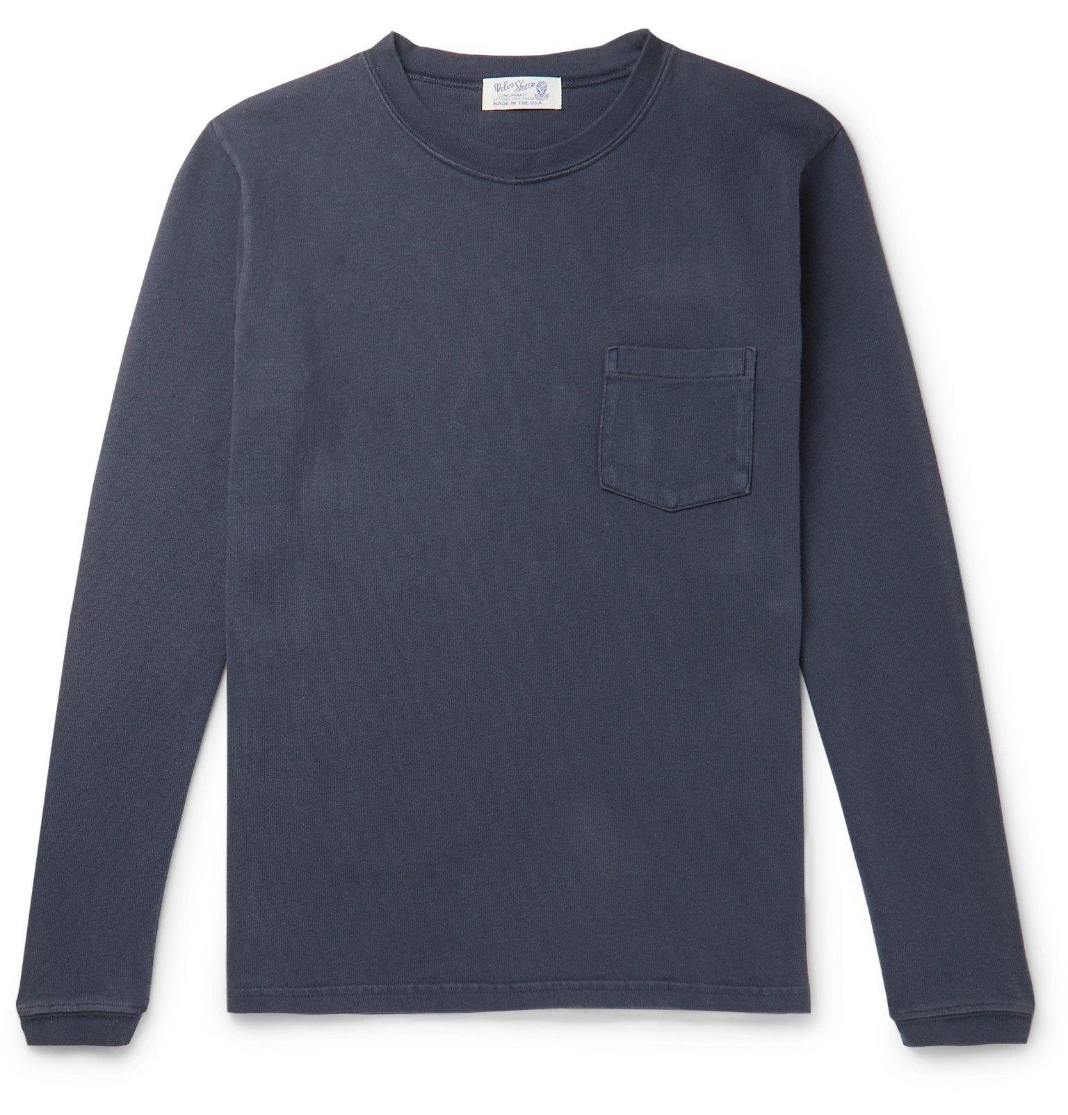 Photo: Velva Sheen - Slim-Fit Cotton-Jersey T-Shirt - Blue