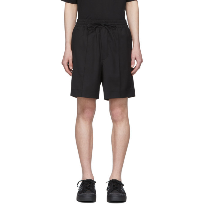 Photo: Y-3 Black Wool Classic Shorts