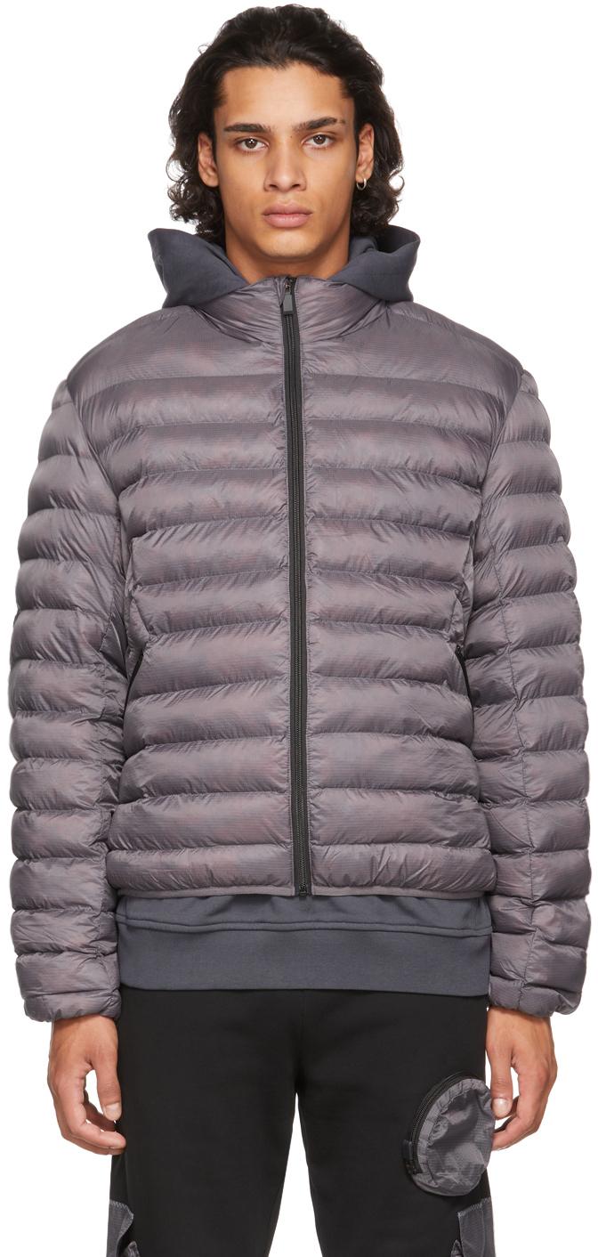 Photo: MCQ Grey Ultralight Ripstop Puffer Jacket