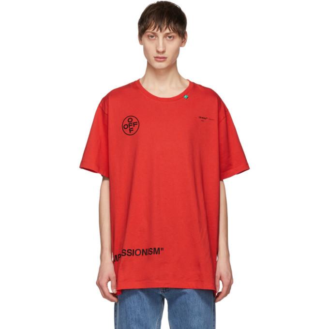 Photo: Off-White Red Stencil T-Shirt