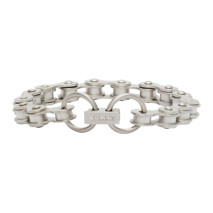 Photo: VETEMENTS Silver Bicycle Chain Bracelet