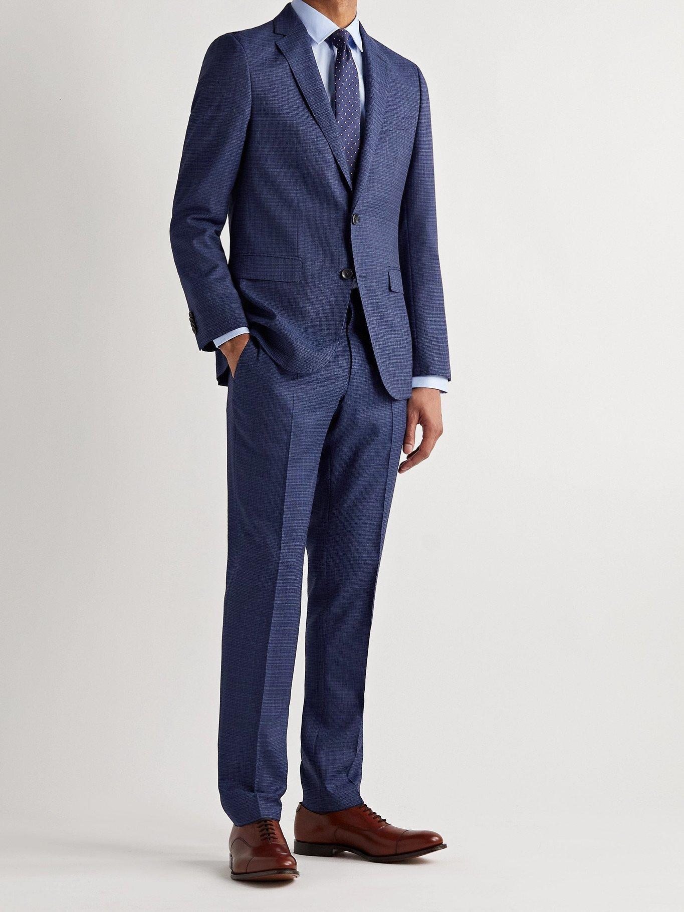 HUGO BOSS - Ben2 Slim-Fit Virgin Wool Suit Trousers - Blue