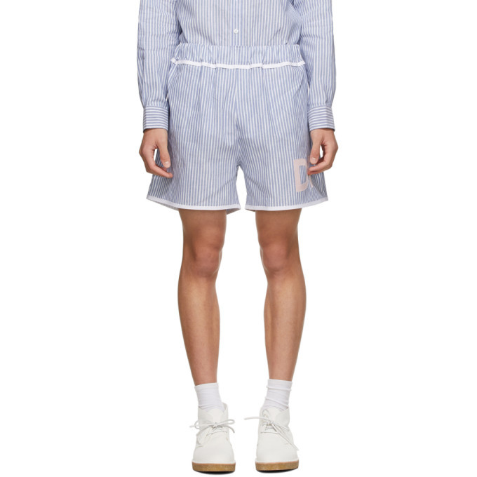 Photo: Daniel W. Fletcher Blue and White Striped Oxford Shorts