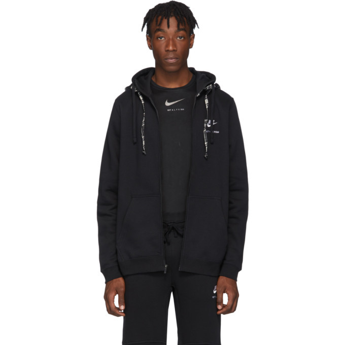 Photo: 1017 ALYX 9SM Black and White Nike Edition Double Hood Zip Hoodie