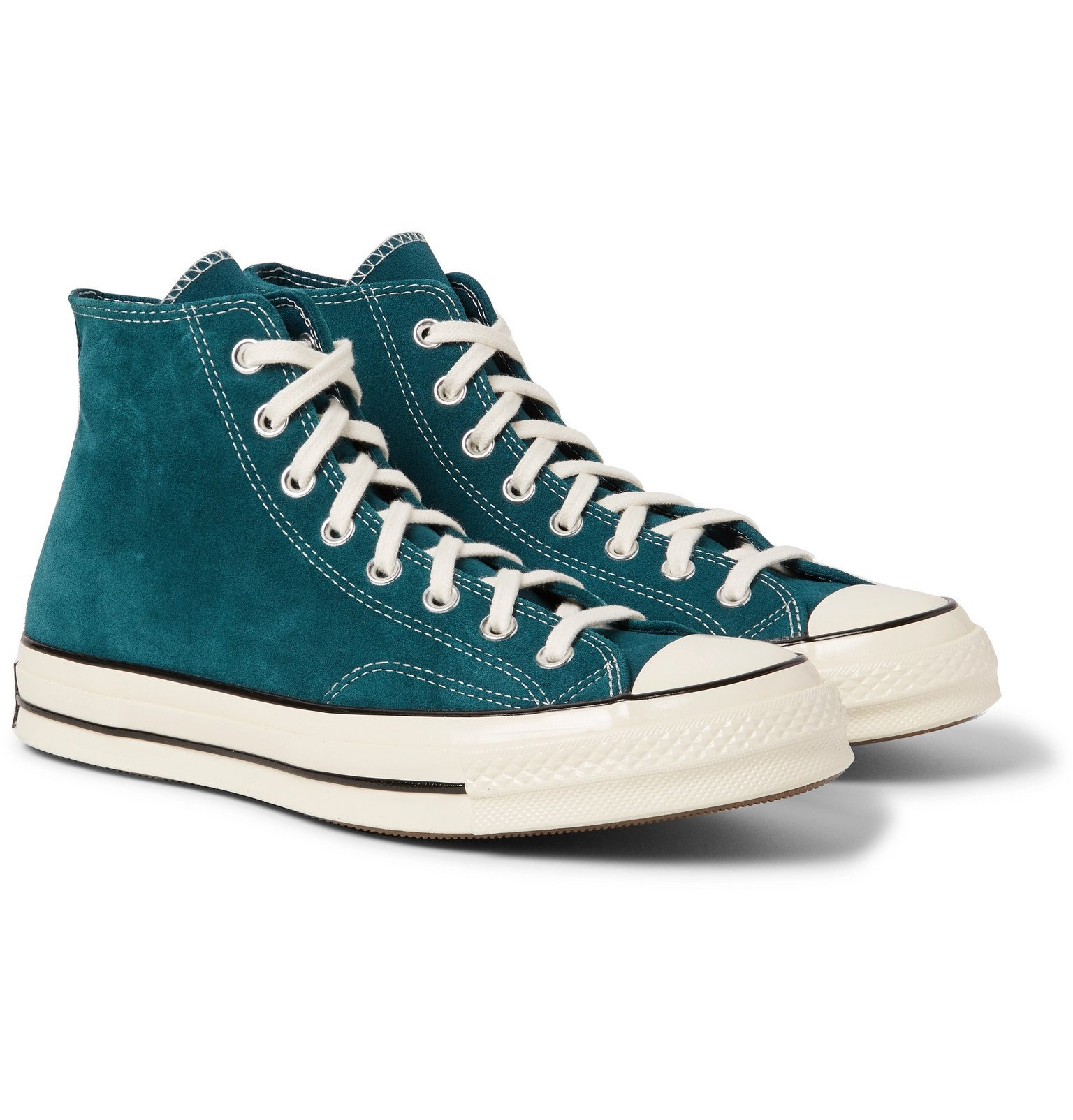 Photo: Converse - Chuck 70 Suede High-Top Sneakers - Blue