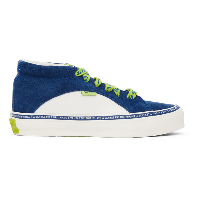 Photo: Vans Blue and Off-White Taka Hayashi Edition Snake Trail LX Sneakers