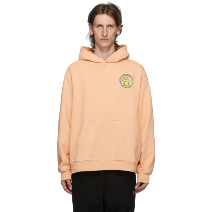 Photo: Brain Dead Orange Speed Text Hoodie