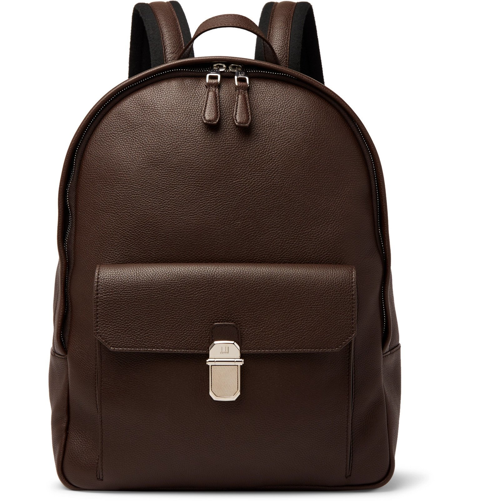 Dunhill - Belgrave Full-Grain Leather Backpack - Brown