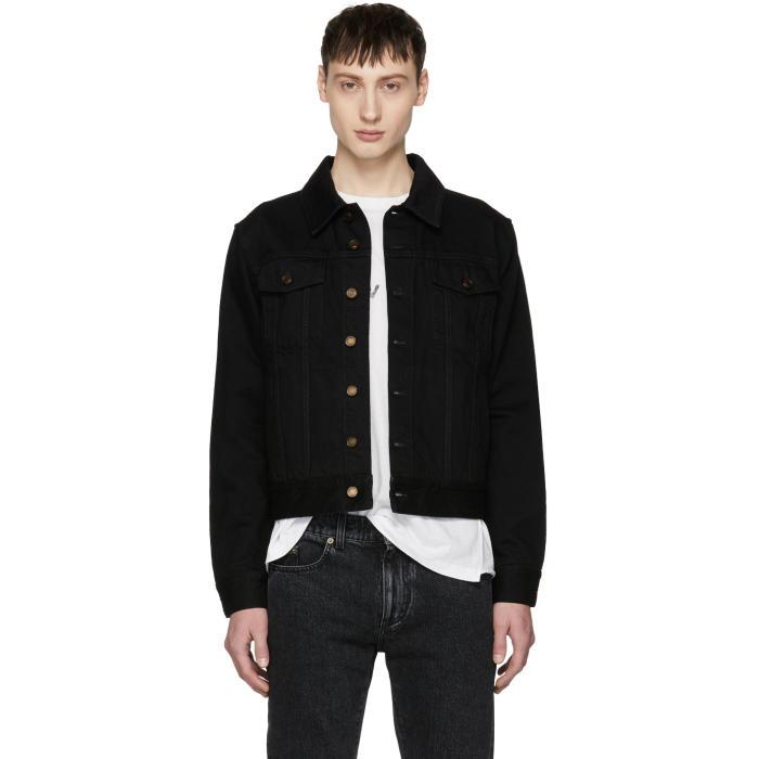 Photo: Saint Laurent Black Worn Denim Jacket