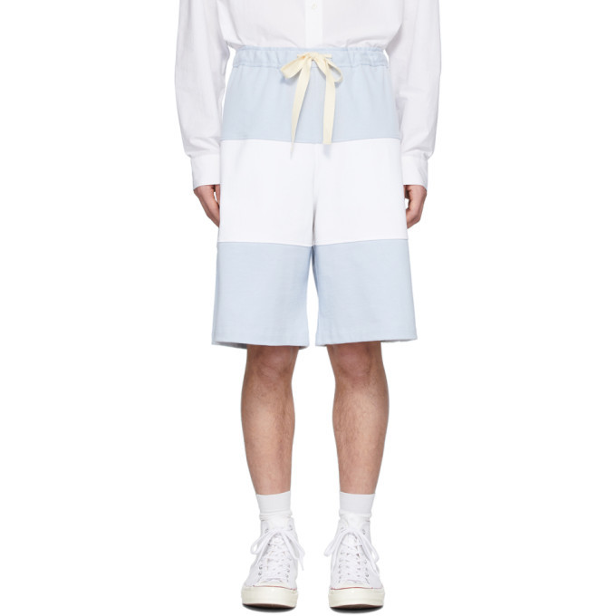Photo: JW Anderson Blue and White Rugby Shorts