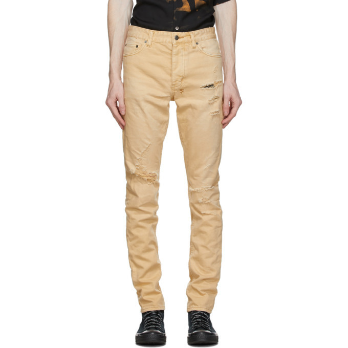 Ksubi Tan Chitch Trashed Jeans