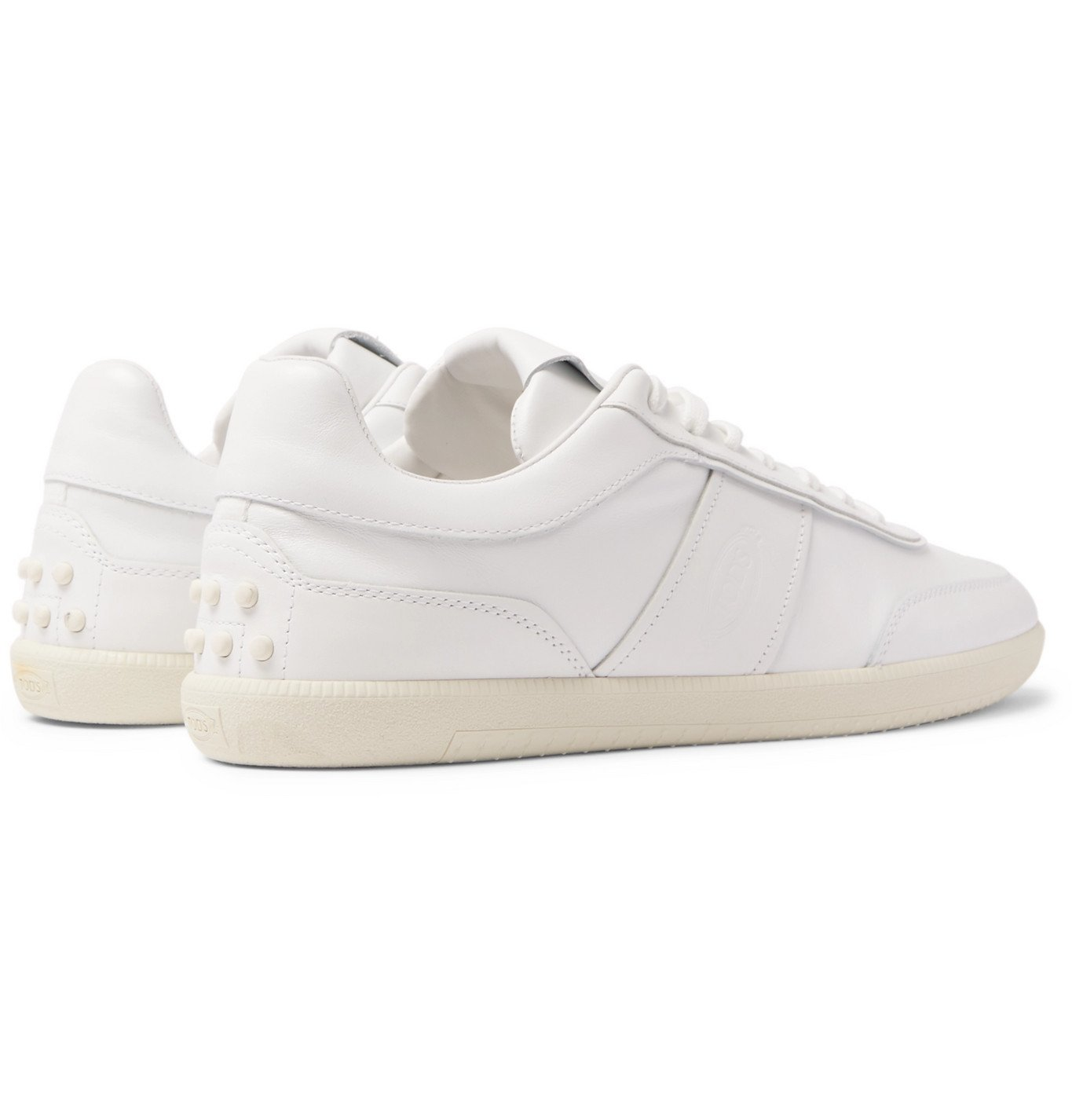Tod's - Logo-Debossed Leather Sneakers - White