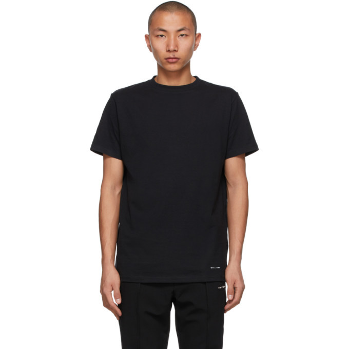 Photo: 1017 ALYX 9SM Three-Pack Black Jersey T-Shirts