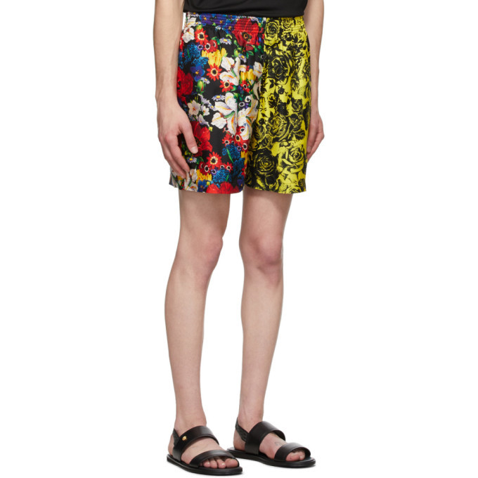 Versace SSENSE Exclusive Multicolor Silk Bouquet Shorts