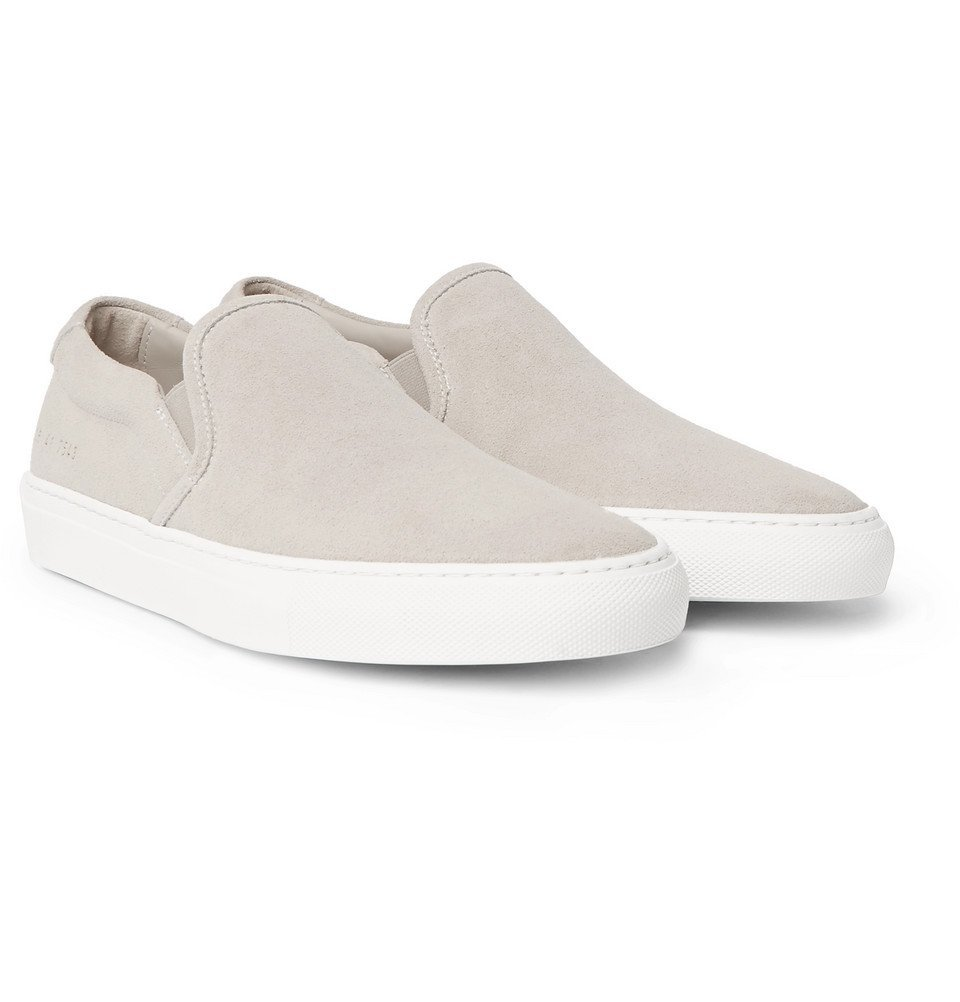Common Projects - Suede Slip-On Sneakers - Men - Gray