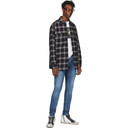 Ksubi Black and Grey Quilted Check Strata Jacket