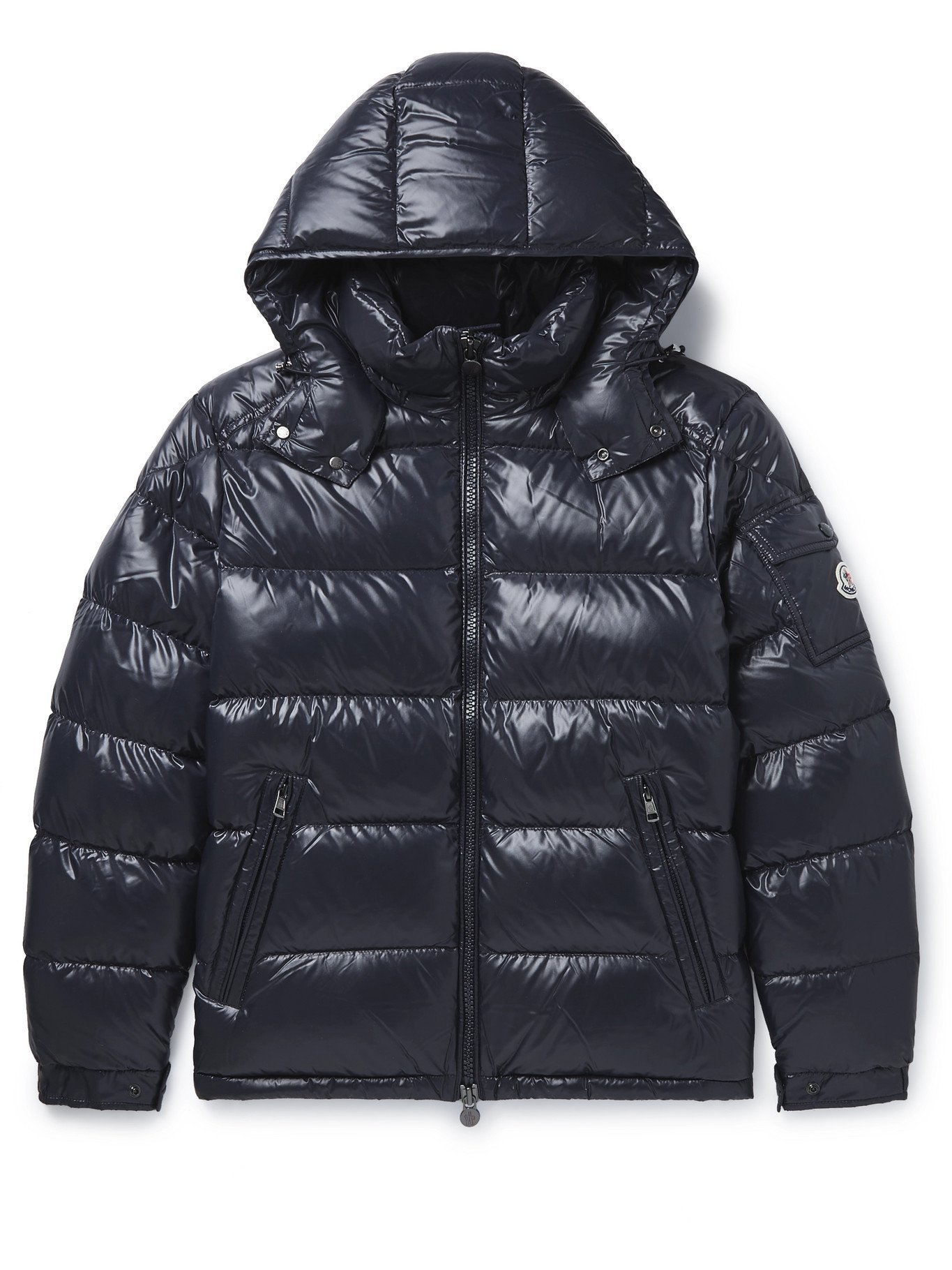 Photo: MONCLER - Maya Quilted Shell Down Hooded Jacket - Blue - 3