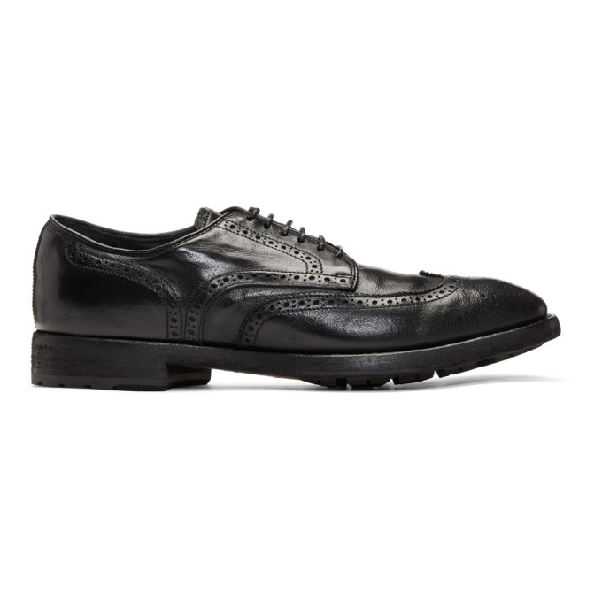 Photo: Officine Creative Black Princeton 9 Brogues