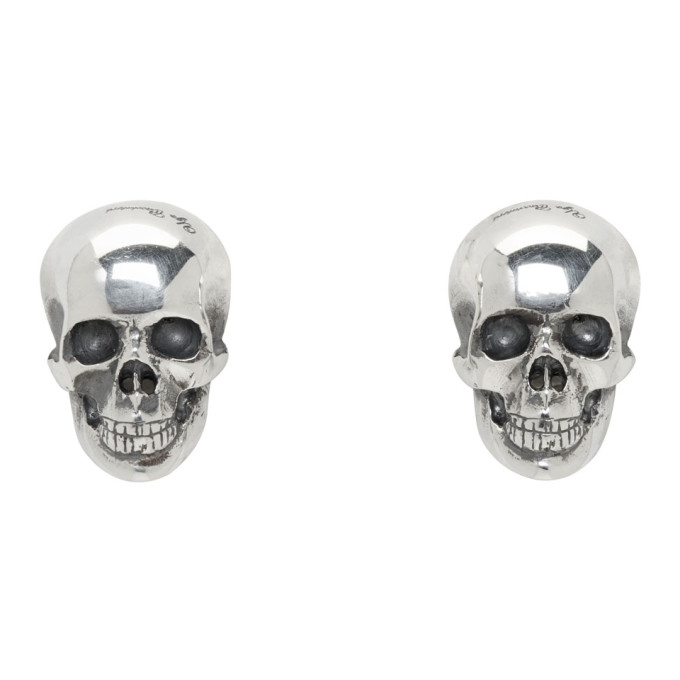 Photo: Ugo Cacciatori Silver Half Skull Stud Earrings