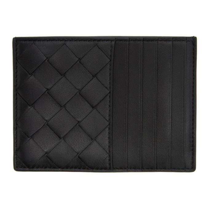 Photo: Bottega Veneta Black Intrecciato Multi Card Holder