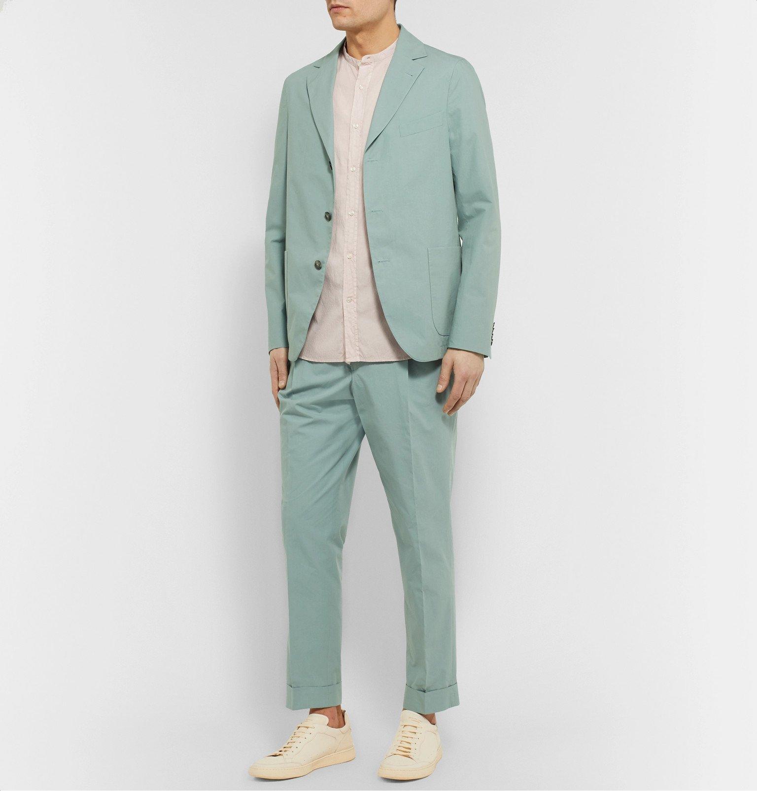 Officine Generale - Armie Slim-Fit Cotton Suit Jacket - Green