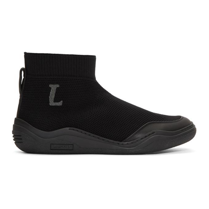 sale sast 100% authentic cheap price Lanvin Black Mid-Top Sock Sneakers 7u7N8MdlEW