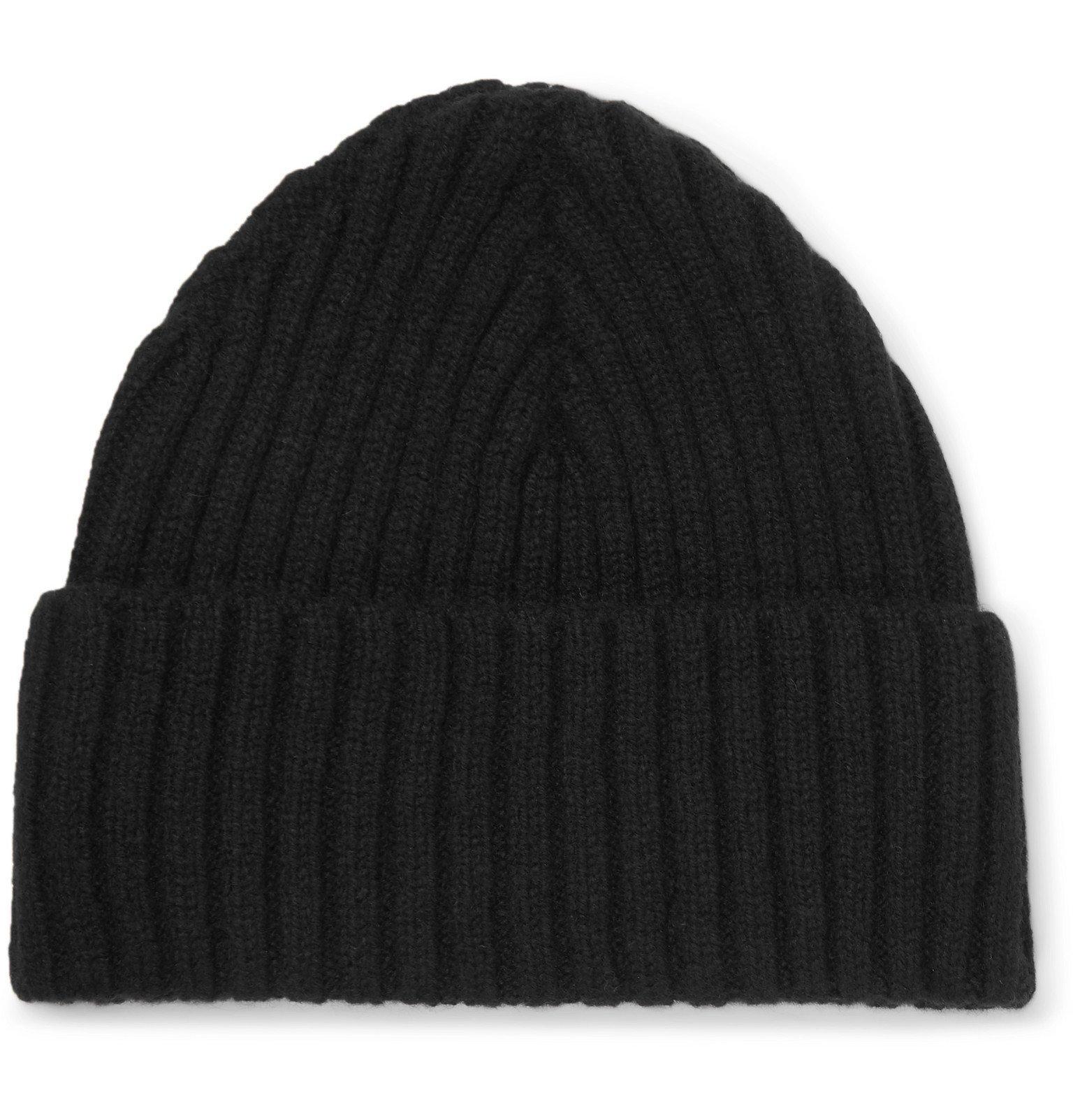 Sunspel - Ribbed Wool Beanie - Black