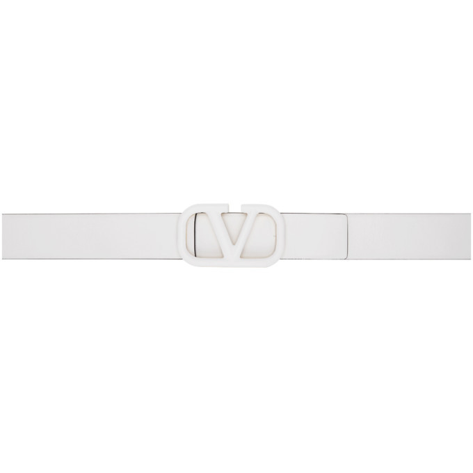 Photo: Valentino White Valentino Garavani Tonal VLogo Belt
