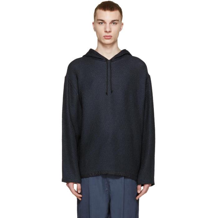 3.1 Phillip Lim Navy Knit Poncho Sweater
