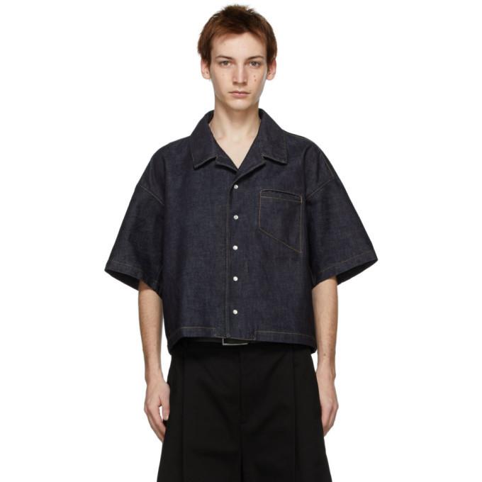 Photo: Bottega Veneta Indigo Denim Short Sleeve Shirt