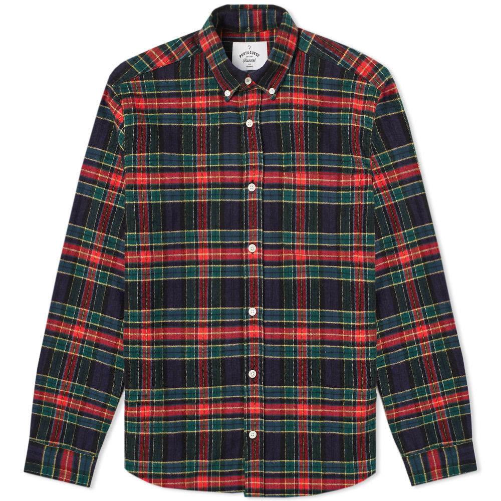 Photo: Portuguese Flannel Scotch Button Down Check Shirt Multi