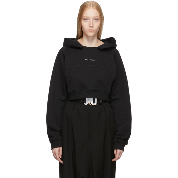 1017 ALYX 9SM Black Cropped Visual Hoodie