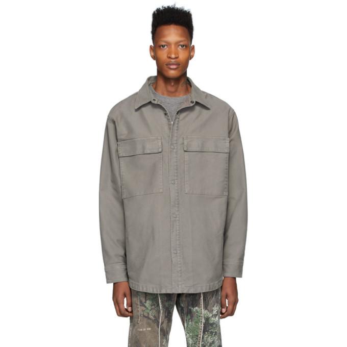 Photo: Fear of God Grey Twill Jacket