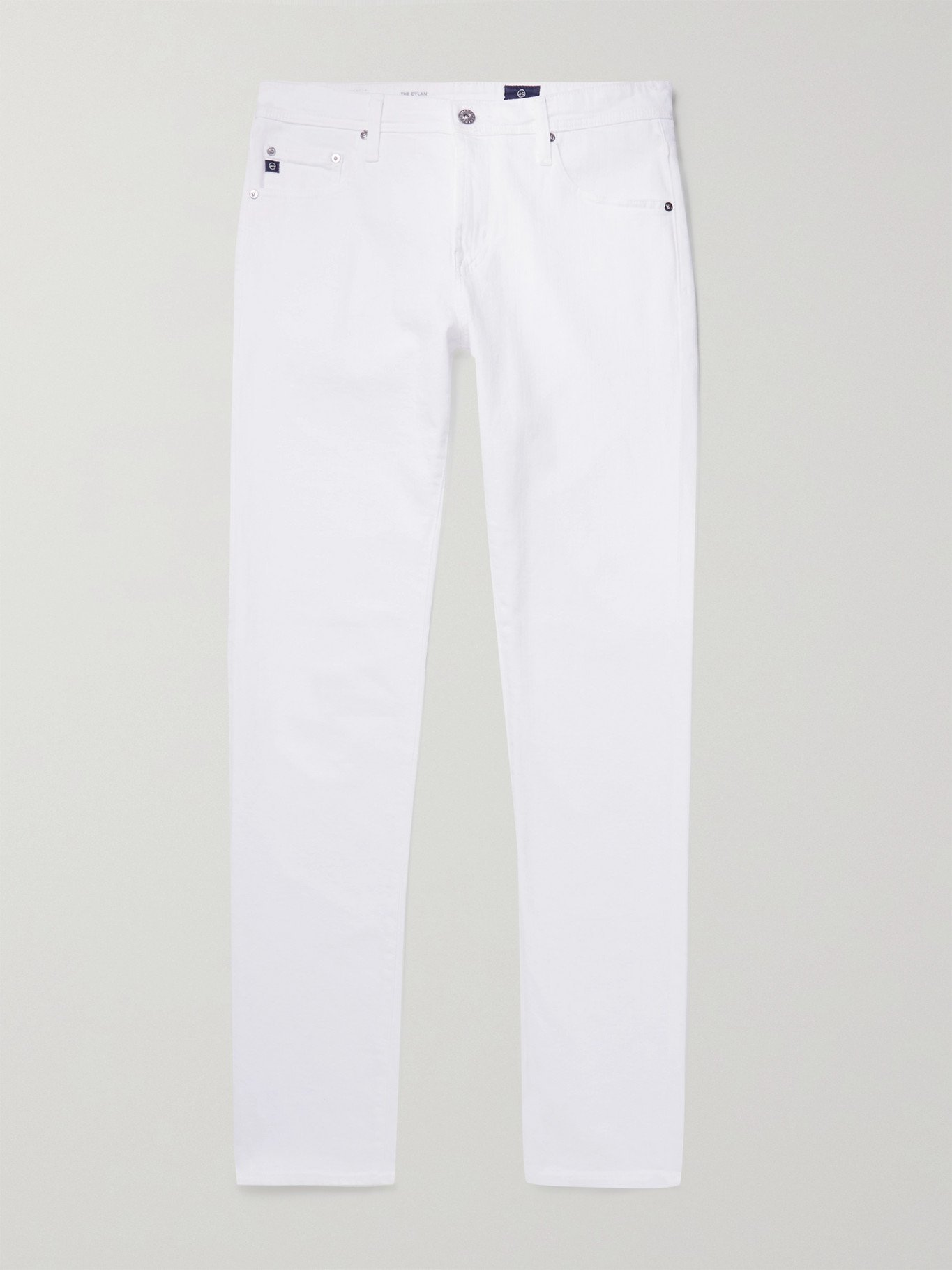 Photo: AG JEANS - Dylan Skinny-Fit Stretch-Denim Jeans - White - 28