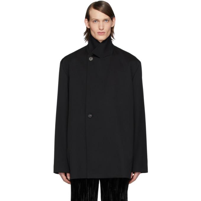 Photo: Balenciaga Black Twill Stretch Tailoring Jacket