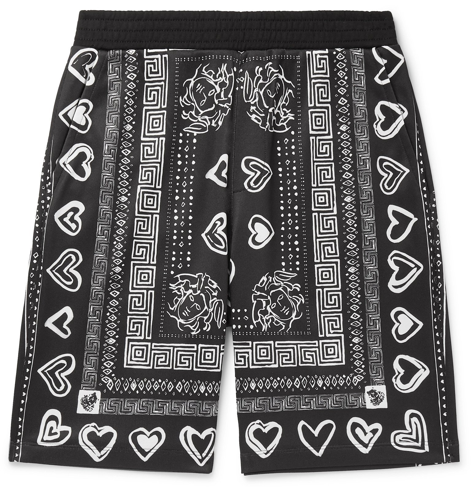 Photo: Versace - Printed Tech-Jersey Shorts - Black