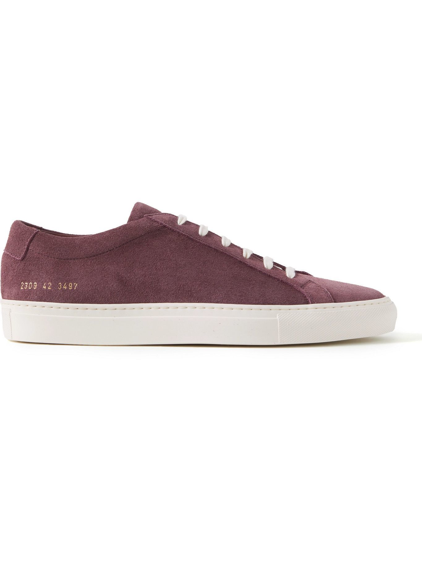 Photo: Common Projects - Original Achilles Waxed-Suede Sneakers - Purple