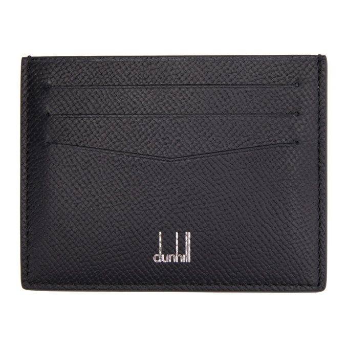 Photo: Dunhill Black Leather Cadogan Card Holder