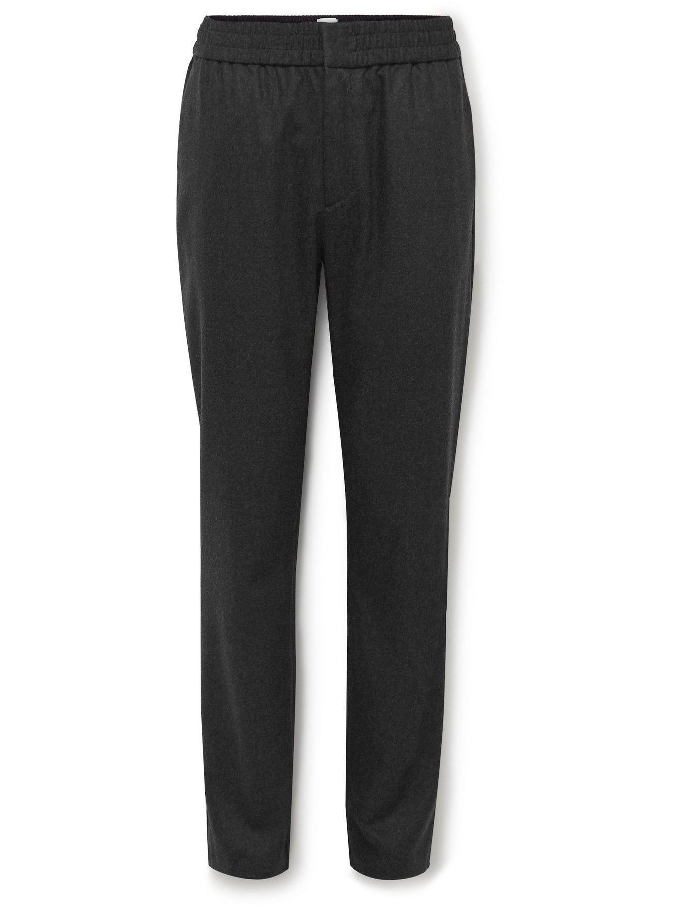Photo: Sunspel - Straight-Leg Wool-Blend Flannel Trousers - Gray
