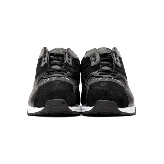 Y-3 Black and White ZX Run Sneakers