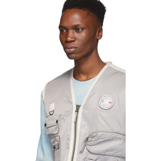 032c Grey Cosmic Workshop Logo Vest