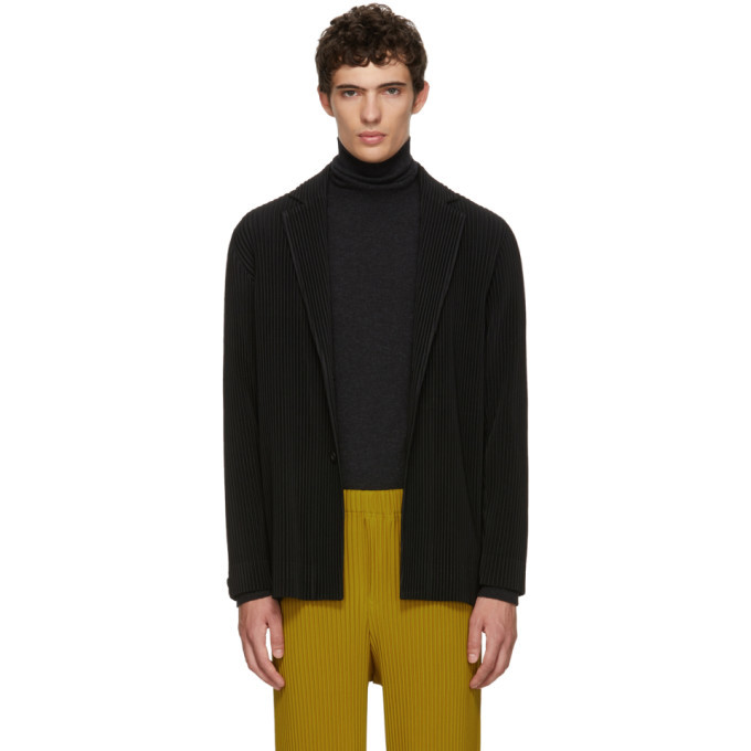 Photo: Homme Plisse Issey Miyake Black Tailored Pleats Coat